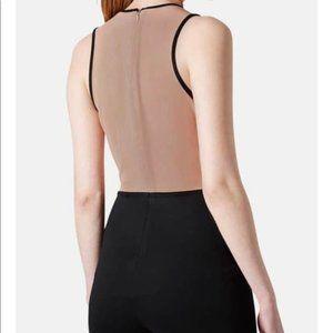 Signature8 Pants & Jumpsuits - Pink & Black Eyelash Lace Mesh Panel Romper